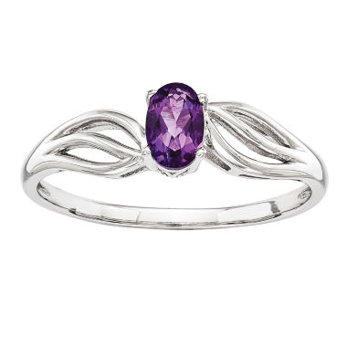 jcpenney.com | Womens Purple Amethyst Sterling Silver Solitaire Ring