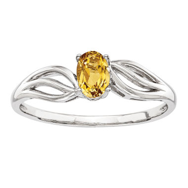 jcpenney.com | Womens Yellow Citrine Sterling Silver Solitaire Ring