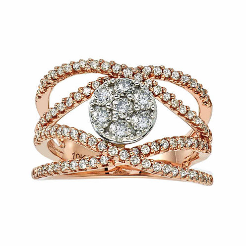 Diamond Blossom 1 CT. T.W. White Diamond 10K Gold Cocktail Ring