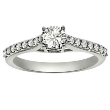 jcpenney.com | Womens 3/4 CT. T.W. Round White Diamond Platinum Engagement Ring