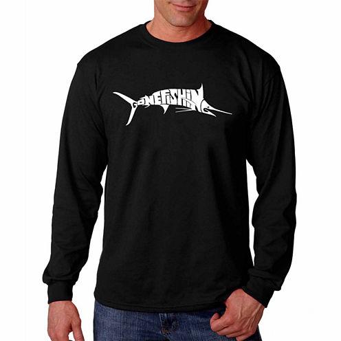 "Los Angeles Pop Art Graphic ""Marlin Gone Fishing"" T-Shirt"