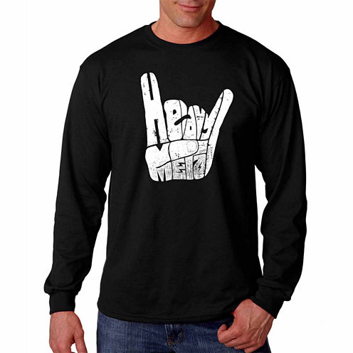 "Los Angeles Pop Art Graphic ""Heavy Metal"" T-Shirt"
