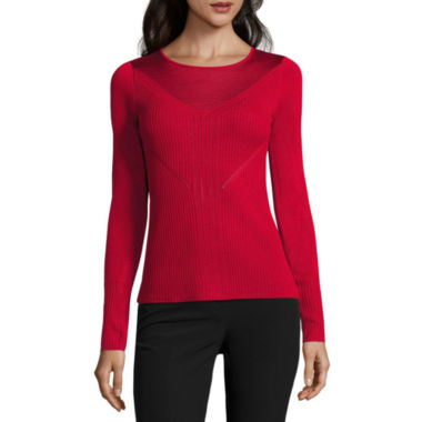 jcpenney.com | Worthington Long Sleeve Crew Neck Pullover Sweater-Talls