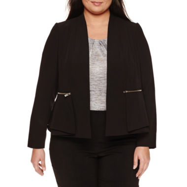 jcpenney.com | Worthington Draped Peplum Blazer-Plus