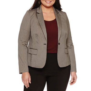 jcpenney.com | Worthington®  Long Sleeve Flap Pocket Blazer - Plus