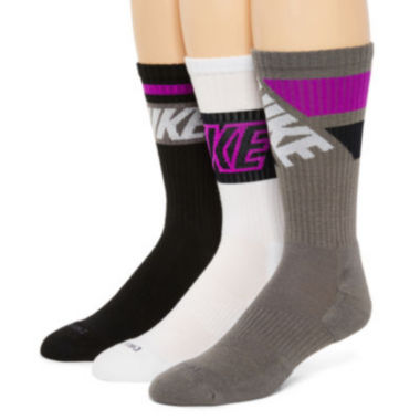 jcpenney.com | Nike® 3-pk. Dri-FIT Fly Rise Crew Socks – Big & Tall