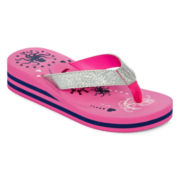 Total Girl® Wylee Girls Wedge Flip Flops - Little Kids/Big Kids