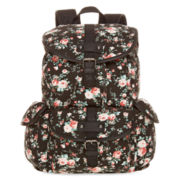 Olsenboye® Floral Glitter Canvas Backpack