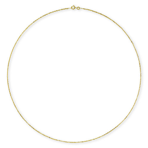 """Made in Italy 14K Gold 24"""" Singapore Chain"""