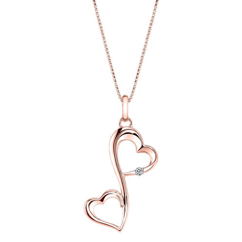 Love Grows™ Diamond-Accent Double Heart Pendant Necklace