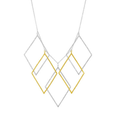 jcpenney.com | Diamond Addiction 1/10 CT. T.W. Two-Tone Multi-drop Necklace
