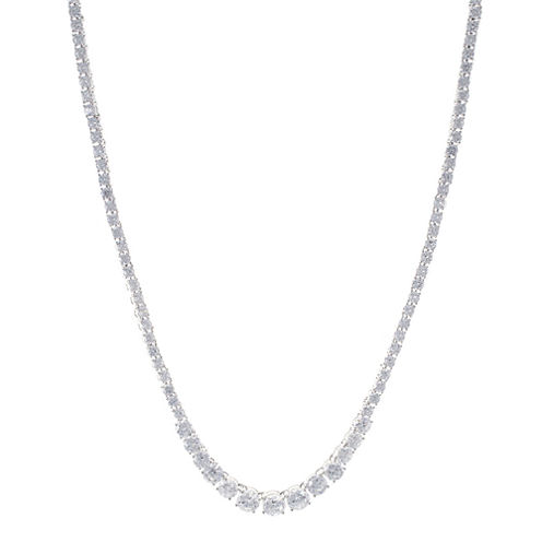 CZ by Kenneth Jay Lane Graduated Cubic Zirconia Necklace