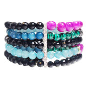 ZOË + SYD 5 Strand Stretch Multi Bracelet