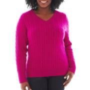 jcp™ Knit Sweater - Plus