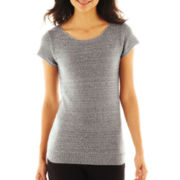 Worthington® Cap-Sleeve Sequined Sweater