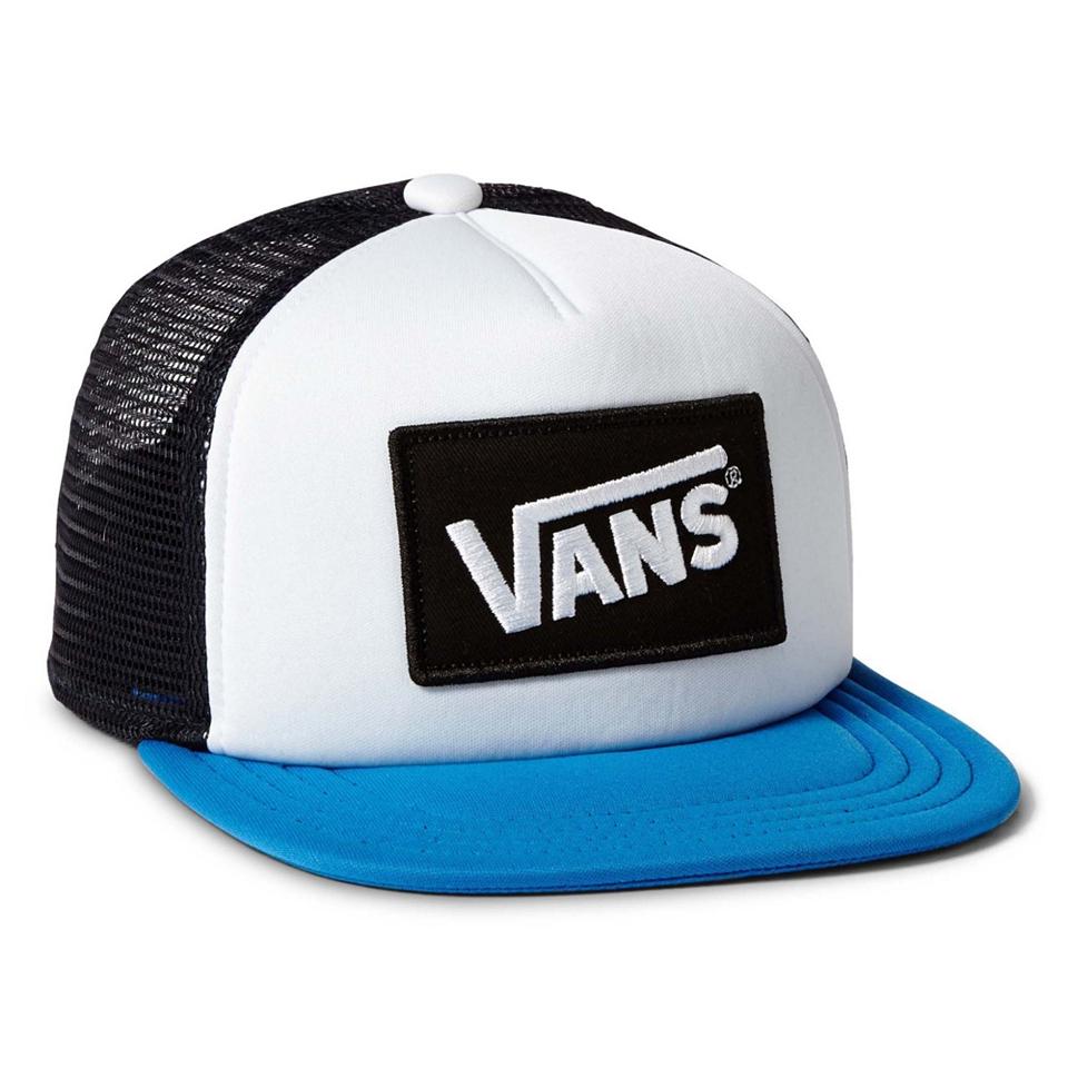 vans classic patch trucker cap red/white/blue