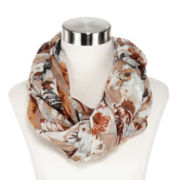 Oversized Floral Infinity Scarf