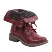 Wanted® Crowley Sweater-Lined Lace-Up Boots