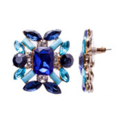Gemma Simone™ Shiny Gold Blue Earrings