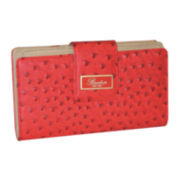 Buxton® Ostrich-Embossed Super Wallet