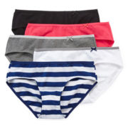 Flirtitude® 5-pk. Tailored Hipster Panties