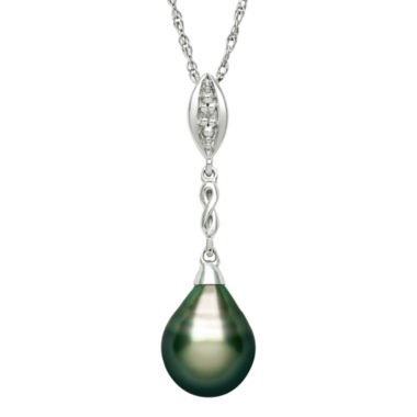 jcpenney.com | Genuine Tahitian Pearl and Diamond-Accent Drop Pendant Necklace