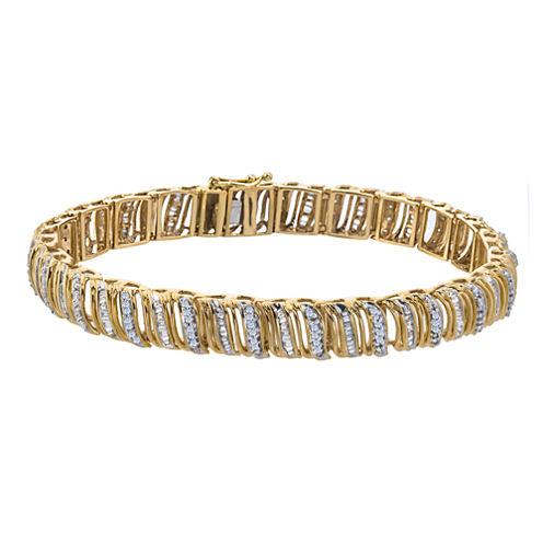 1½ CT. T.W. Diamond 10K Yellow Gold Bracelet