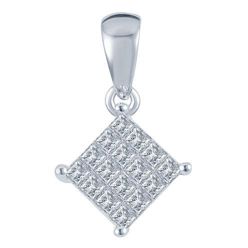 1/4 CT. T.W. Diamond 10K White Gold Pendant