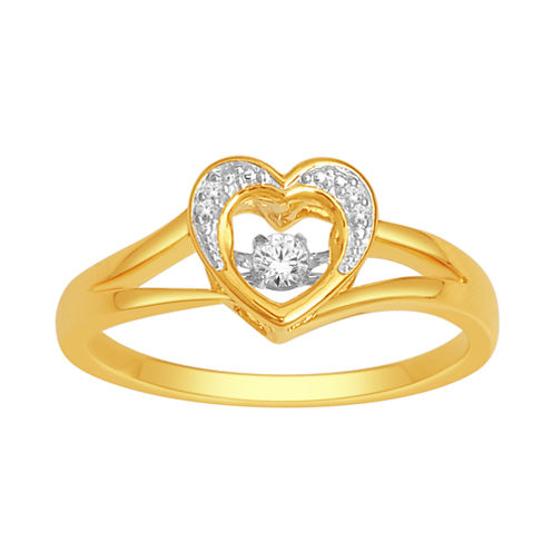 Love in Motion™ Diamond-Accent 10K Yellow Gold Heart Ring