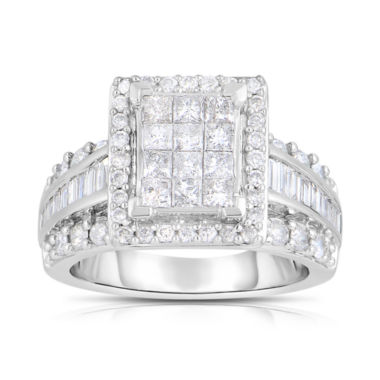 jcpenney.com | 2 CT. T.W. Diamond 14K White Gold Multi-Top Bridal Ring