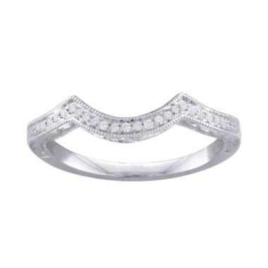 jcpenney.com | Cherished Hearts™ Diamond-Accent 14K White Gold Wedding Band