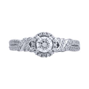 Bride® Signature 3/4 CT. T.W. Diamond 14K White Gold Bridal Ring