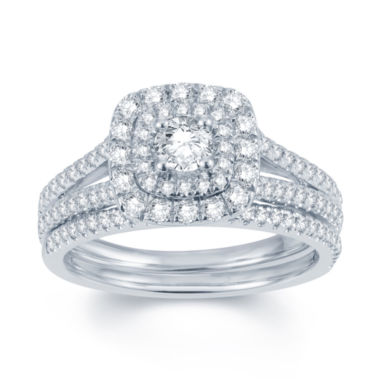 jcpenney.com | Modern Bride® Signature 1 CT. T.W. Diamond 14K White Gold Bridal Ring Set
