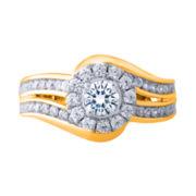 Opulent Diamond 1 CT. T.W. Diamond 14K Yellow Gold Bypass Ring