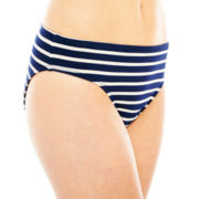 Liz Claiborne® Striped Hipster Swim Bottoms
