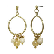 ROX by Alexa Rutilated Quartz Cluster Hoop Earrings