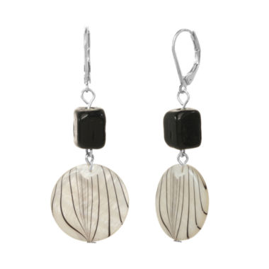 jcpenney.com | ROX by Alexa Black and White Animal-Print Shell Earrings