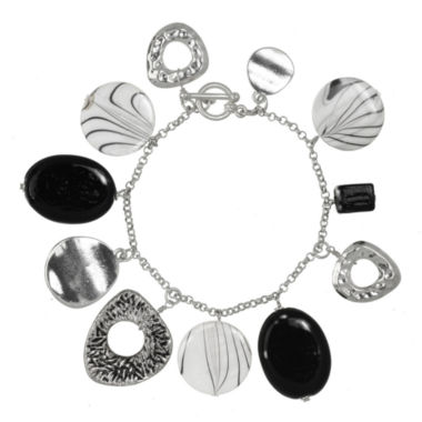 jcpenney.com | ROX by Alexa Black and White Shell Toggle Bracelet