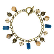 ROX by Alexa Picture Jasper and Blue Jade Charm Bracelet