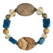 ROX by Alexa Picture Jasper and Blue Jade Stretch Bracelet