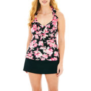 Liz Claiborne® Ruffled Halterkini Swim Top or Skirted Bottoms - Plus