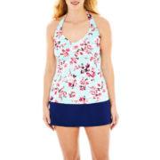 Liz Claiborne® Halterkini Swim Top or Skirted Bottoms - Plus
