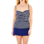 Liz Claiborne® Bandeaukini Swim Top or Skirted Bottoms - Plus