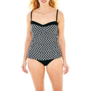 Liz Claiborne® Bandeaukini Swim Top or Hipster Bottoms - Plus