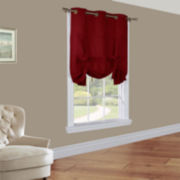 Weathermate Grommet-Top Tie-Up Room-Darkening Curtain Panel