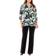 Worthington® Easy V-Neck Top or Modern Trouser Pants - Plus