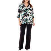 Worthington® Easy V-Neck Top or Modern Trouser Pants - Plus