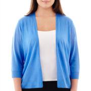 Worthington® Open-Front Cardigan Sweater - Plus