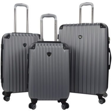 jcpenney.com | Travelers Club® Chicago 2.0 3-pc. Hardside Expandable Double-Spinner Upright Luggage Set