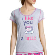 Sleep Chic Short-Sleeve Pajama Top